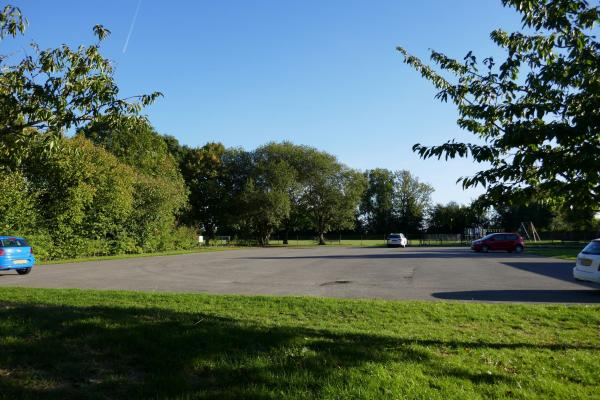 Flaunden Village Hall car park (looking towards the playing fields)