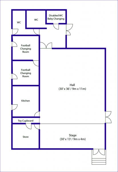 Flaunden Village Hall Floorplan