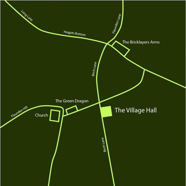 Flaunden Village Hall location map